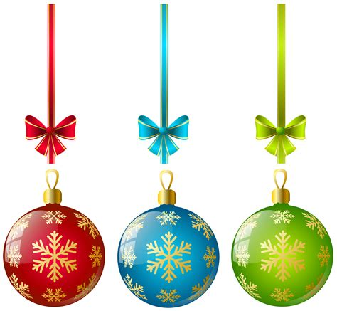 ornaments picture large transparent three ornaments clipart