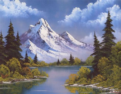 bob ross painting gallery pin bob ross mountain waterfall on