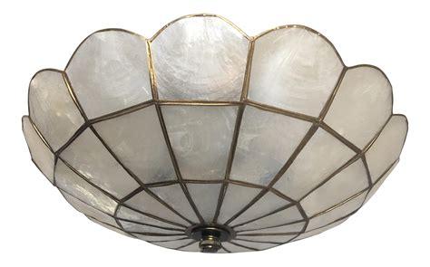capiz shell ceiling light 1950s capiz shell ceiling light chairish