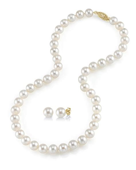 pearls for jewelry 7 8mm freshwater pearl necklace earrings