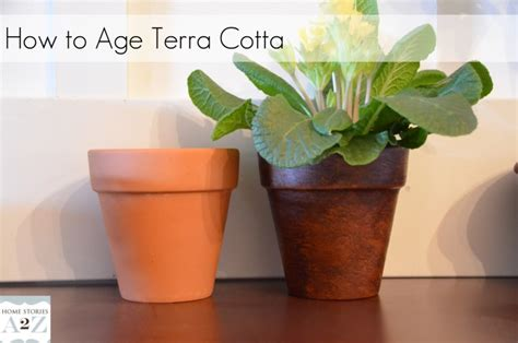 how to make terracotta how to easily age terra cotta pots cotta home stories