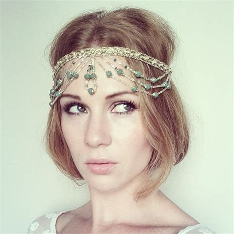 beaded headpiece gold and green beaded and headpiece indian wedding
