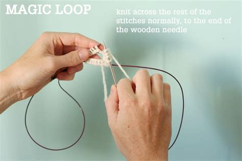 how to knit magic loop magic loop technique how to knit in the using a