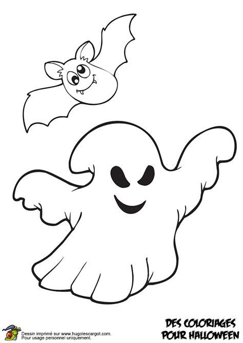 coloriage fantome et chauve souris sur hugolescargot