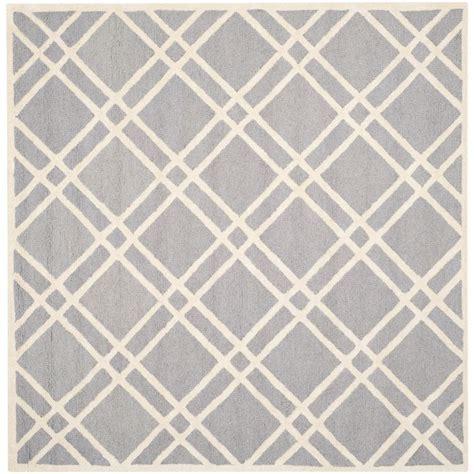 6 square area rug safavieh cambridge silver ivory 6 ft x 6 ft square area