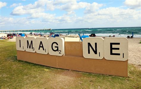 is quid a scrabble word imag ne sculpture editorial image image 50518935