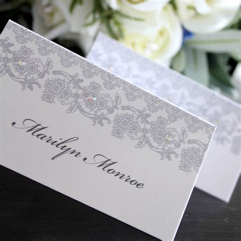 how to make place cards for wedding wedding place card name card by 2by2 creative
