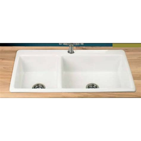 inset kitchen sinks clearwater bistro 1 75 bowl 965mm x 508mm ceramic inset