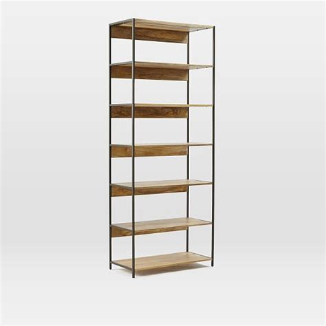 bookshelves modular industrial modular 33 quot bookshelf west elm
