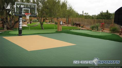 backyard court multi sport backyard court system synlawn photo gallery