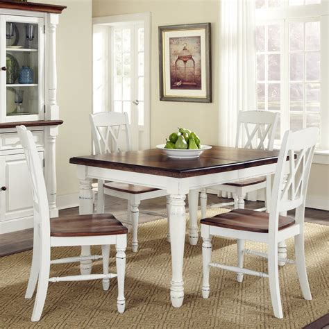 home styles dining table shop home styles monarch white oak 5 dining set with