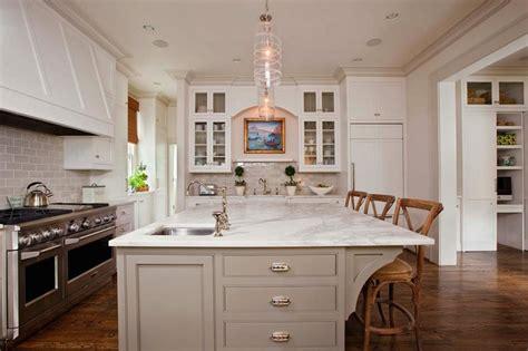 kitchen island with prep sink square prep sink transitional kitchen gwyn duggan design