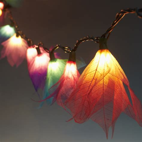 string flower lights 9ft tropical flower lights 110v ac string lights multi
