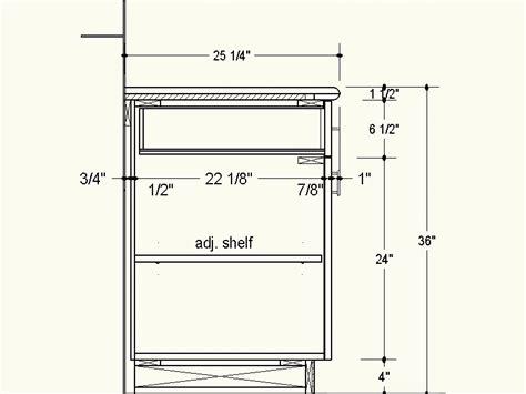depth of kitchen cabinets proper depth for frameless cabinets