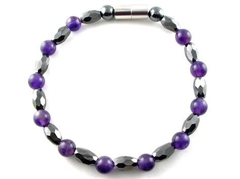 magnetic hematite hematite magnetic therapy bracelet amethyst marquise