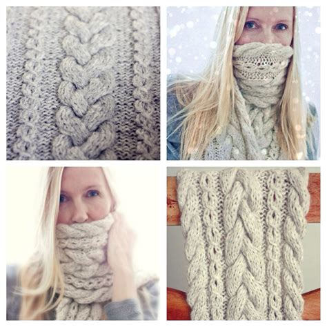 how to knit braid knitting pattern braided infinity scarf cowl cable knit