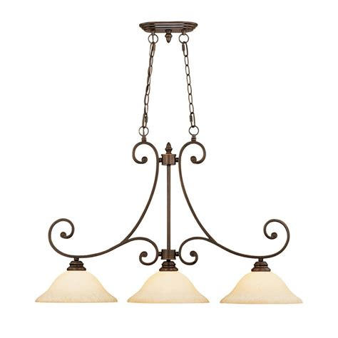 kitchen lighting lowes shop millennium lighting oxford w 3 light rubbed bronze