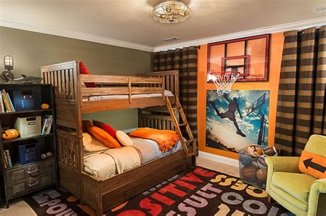 basketball themed bunk beds wall murals decals sports themed interiors