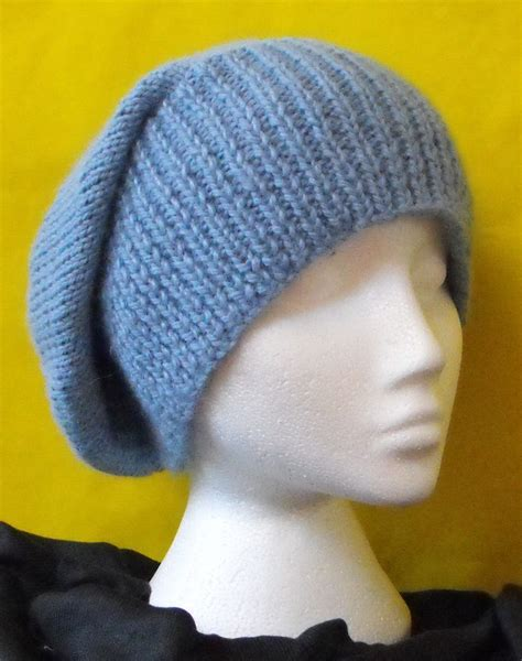 knitting patterns for slouchy hats free knitting pattern chunky slouch big beanie hat