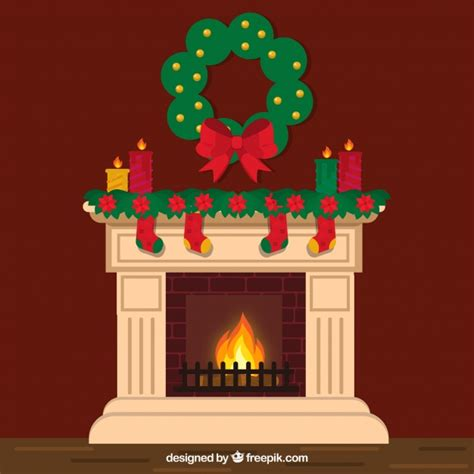 chimney decoration lovely chimney with decoration vector free