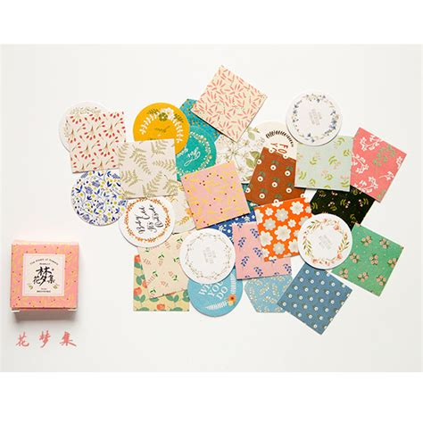 paper crafts and scrapbooking flower 40pcs bag diy kawaii scrapbook paper