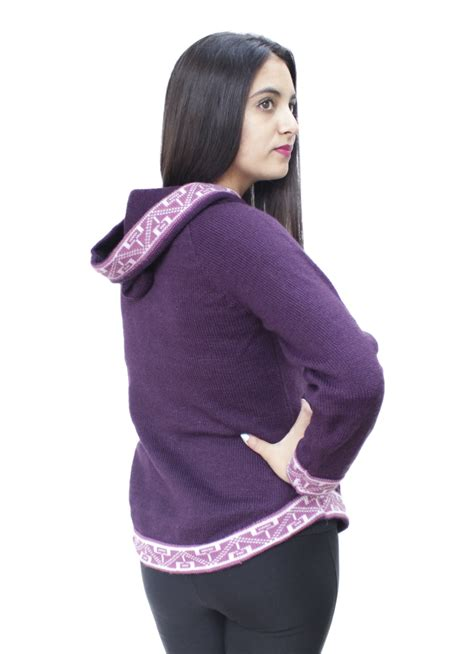 knitted hoodie womens womens hoodie soft and warm alpaca wool knitted hooded