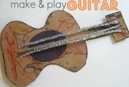 guitar crafts for giraffe mask preschool g