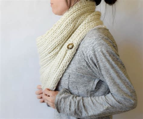 buttoned cowl knitting pattern quot two ways quot knit ribbed cowl pattern in a stitch