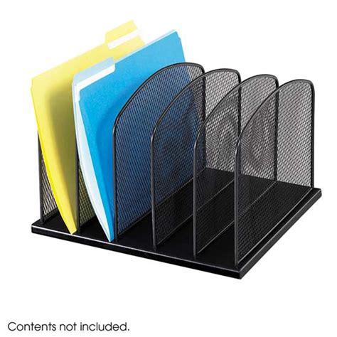 desk folder organizer safco products onyx 5 file desk organizer 3256bl desk
