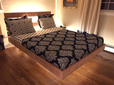floating bed frame design 20 diy bed frames to meet your sleeping comfort needs