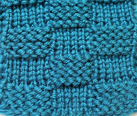 garter stitch in knitting garter stitch checks version of the basketweave