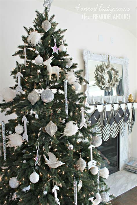 white ornament tree remodelaholic diy wood stick arrow ornaments
