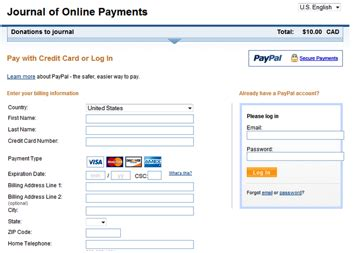 how to make credit card payment through another credit card using paypal for ojs and ocs payments pkp wiki