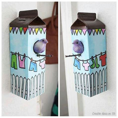 milk crafts for crafts diy milk bird houses recycled crafts with