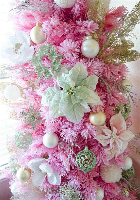 pink flocked tree pink flocked tree treetopia