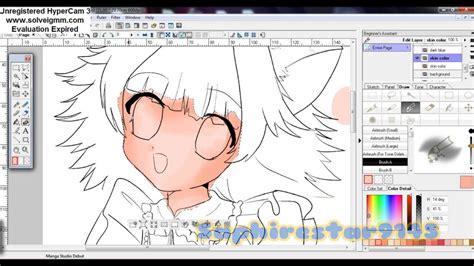 how to color in studio debut 4 how i color shoujo skin