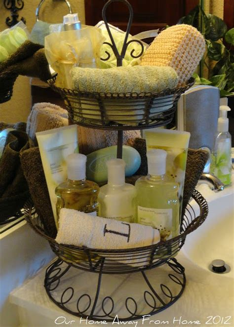 Bathroom Basket Ideas by Our Home Away From Home Tiered Basket In The Bathroom And