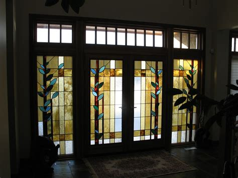 stained glass inserts for exterior doors made front entrance door inserts by prairie studio