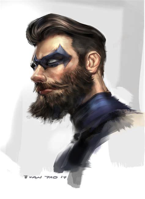 nightwing hairstyle nightwing beard by ivangod on deviantart