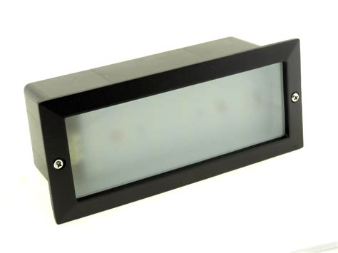 recessed garden wall lights modern white led outdoor garden recessed brick wall light