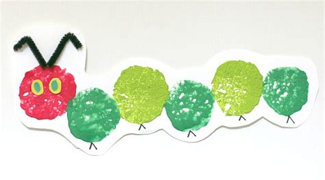 caterpillar crafts for the hungry caterpillar craft using sponge painting