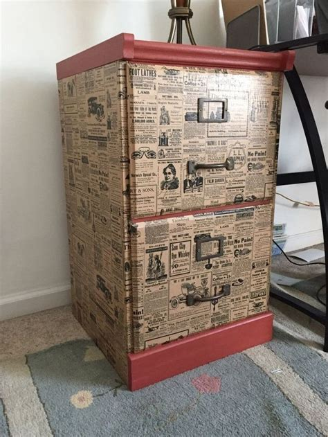 chalk paint upcycled furniture file cabinet upcycle with wrapping paper hometalk