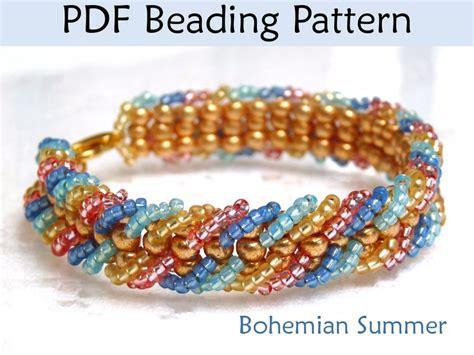 ladder stitch beading patterns bohemian summer embellished ladder stitch bracelet pdf