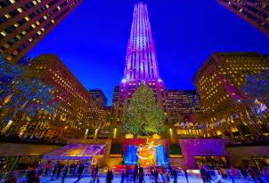 rockefeller center tree photos nyc s rock center tree glistens and glitters at