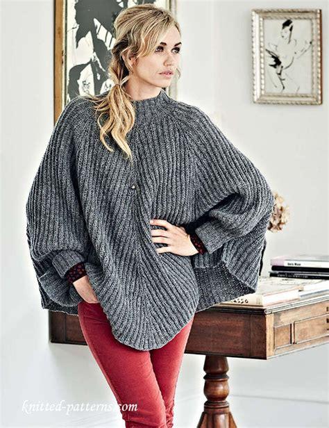 poncho knitting pattern with sleeves poncho knitting pattern pinteres