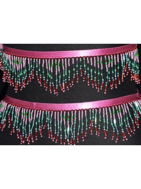 beaded trimmings uk pink green beaded fringe trimming