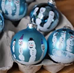 snowman ornament craft bit funky make these now handprint snowman