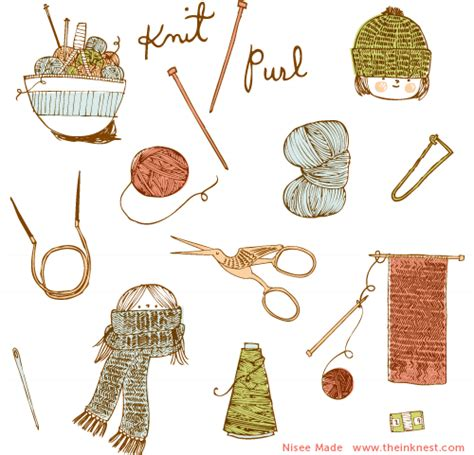 knitting clip knit purl the ink nest