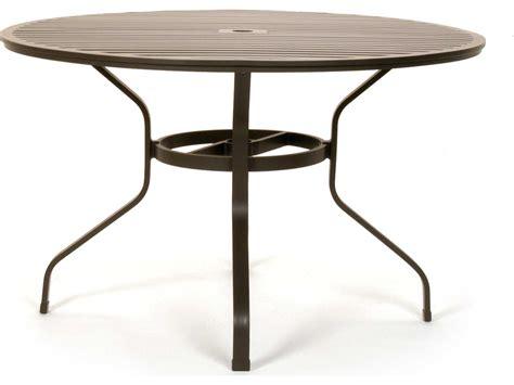 patio umbrella table caluco san michele aluminum 48 metal dining table