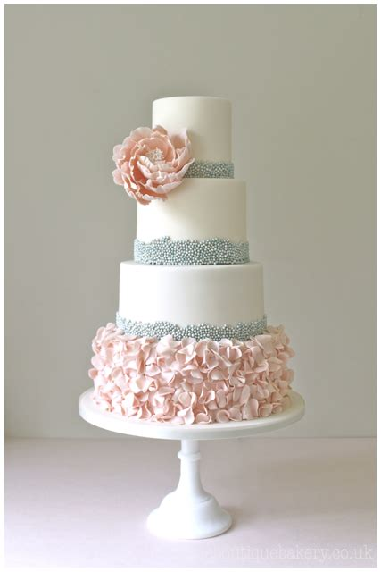 beaded cake wedding cake surrey great fosters beaded ruffle cake
